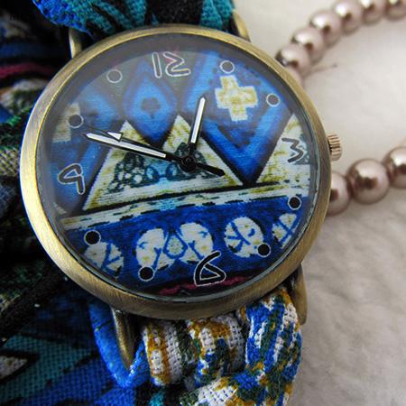 ساعت بند پارچه ای گلدار